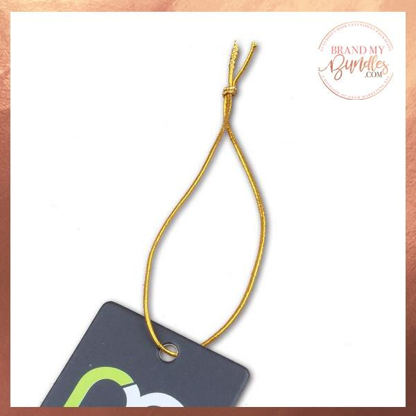 Gold Elastic Hang Tag String - Brand My Bundles