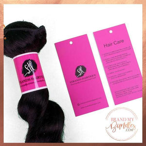 Bundle Wraps and Hang Tags Packaging Set - Brand My Bundles