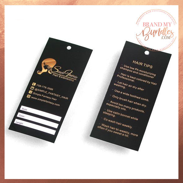 Custom Hang Tags - 1,000 Qty - Brand My Bundles
