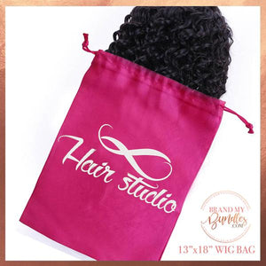 Custom Satin Wig Bags - Brand My Bundles