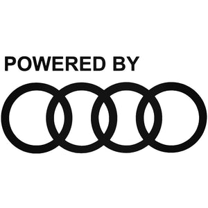 Powered By Audi Decal