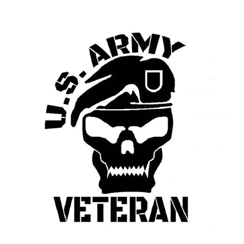 US Army Veteran Skull Decal