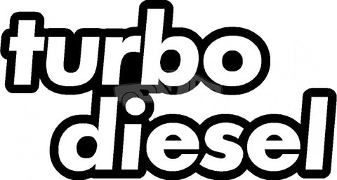 Turbo Diesel Decal