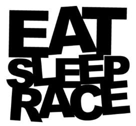 Eat Sleep Race Decal