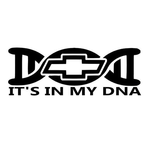 It's In My DNA Chevy Decal