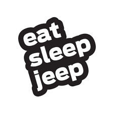 Eat Sleep Jeep Decal