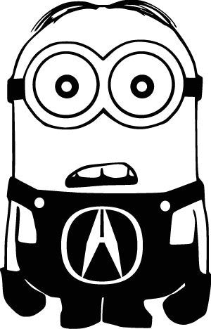Acura Minion Decal