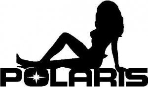 Polaris Girl Logo Decal