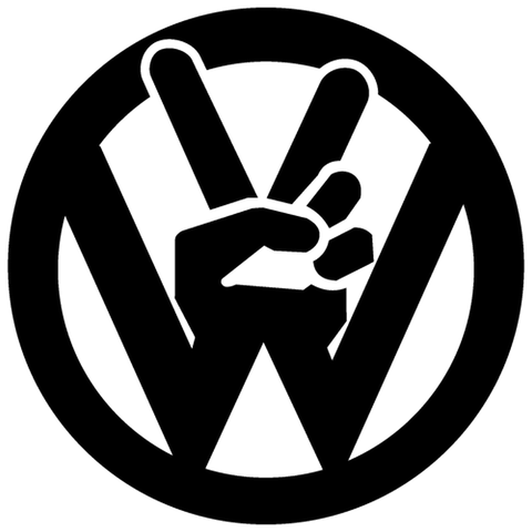 Volkswagen Peace And Love Decal