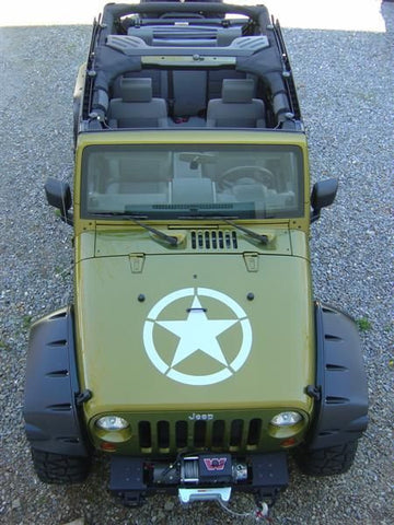 "Jeep Army Star Hood Decal 20""X20"""