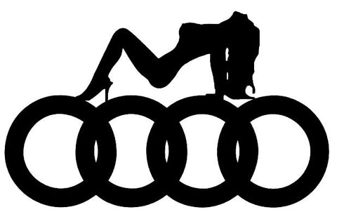 Audi Girl Decal