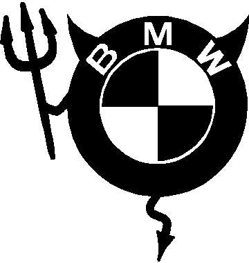 BMW Devil Decal
