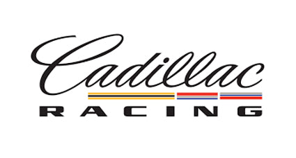 Cadillac Racing White Background Printed Decal