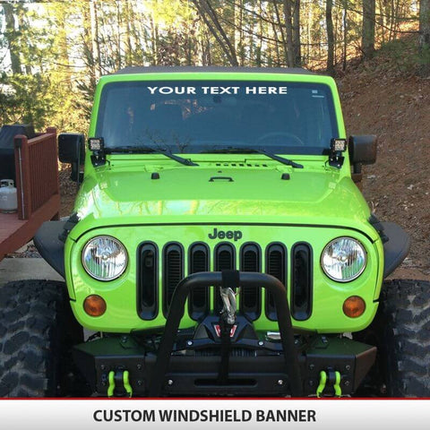 Custom Jeep Windshield Banner