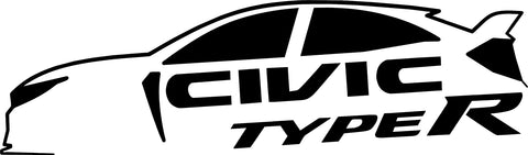 Honda Civic Type R Silhouette Decal