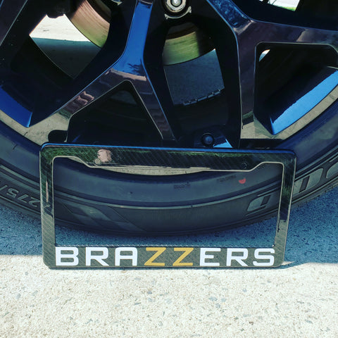 Brazzers Carbon Fiber Style License Plate Frame