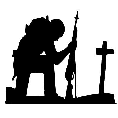 Kneeling Soldier Decal
