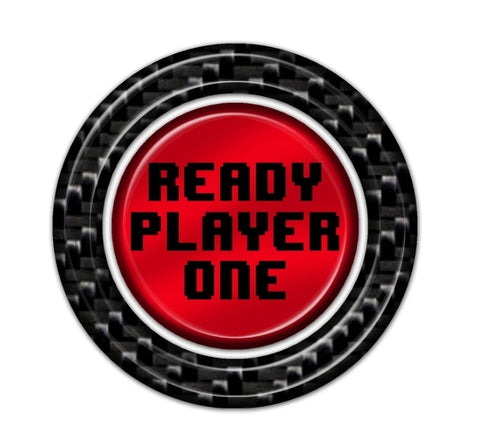 Ready Player One Carbon Fiber Push To Start Button Overlay