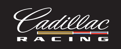 Cadillac Racing Black Background Printed Decal