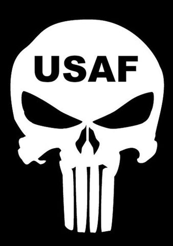 US Air Force Skull Decal