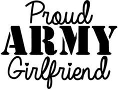 Proud Army Girlfriend Decal