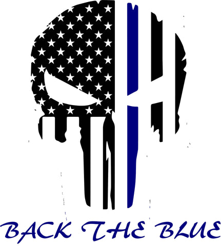 Back the Blue Punisher Decal