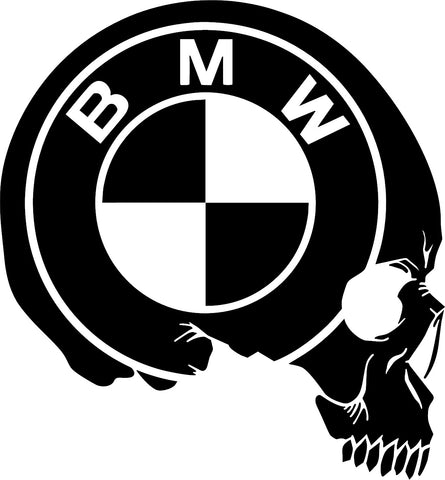 BMW Skull Decal
