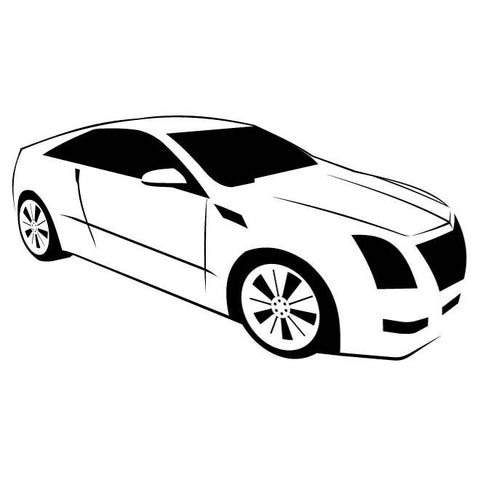 Cadillac CTS Silhouette Decal