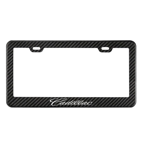 Cadillac Carbon Fiber Style License Plate Frame