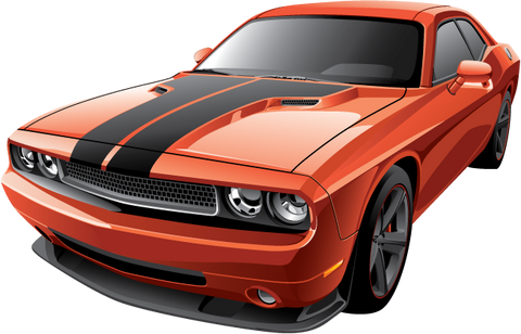 Dodge Challenger Printed Decal
