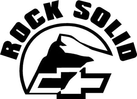 Rock Solid Chevy Decal