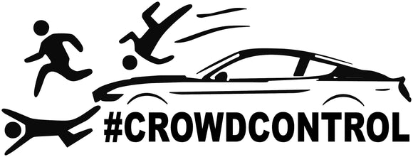 Crowd Control Mustang Decal