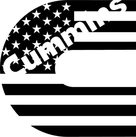 Cummins American Flag Decal