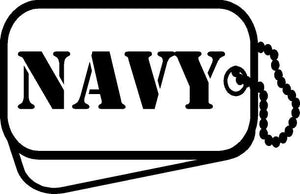 Navy Dog Tag Decal