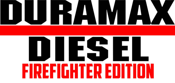 Duramax Firefighter Edition Decal