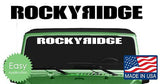 Rocky Ridge Windshield Banner