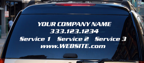Custom Business Decal