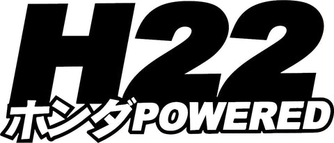 H22 Powered Decal