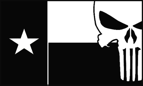 Texas Flag Punisher Decal