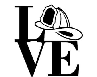 Love Fireman Decal