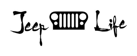 Jeep Life Windshield Banner