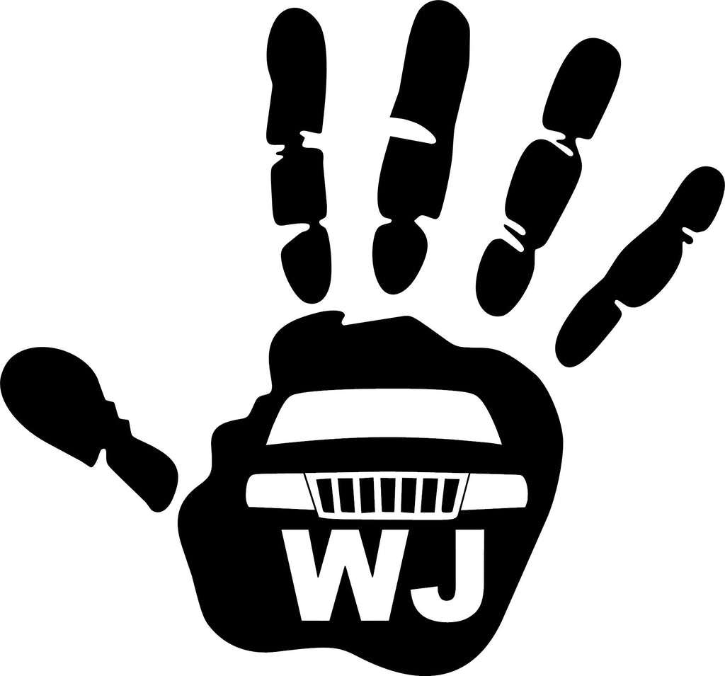 Jeep Wave Wj Grill Decal 2 Drews Decals
