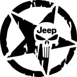 Punisher Jeep Star Decal