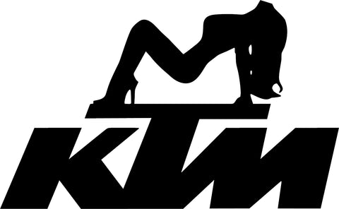 KTM Girl Decal