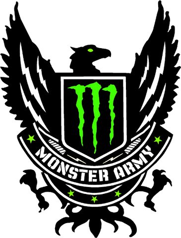 Monster Energy Army Printed Decal