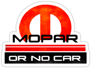 Mopar Or No Car Printed Decal