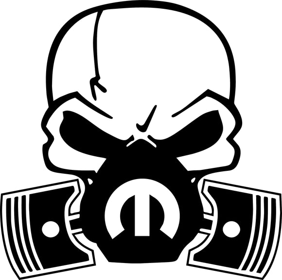 Mopar Piston Gas Mask Decal