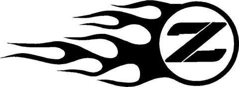 Nissan Flames Z Logo Decal