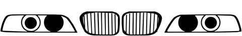 BMW E39 Front Fascia Grille Silhouette Decal