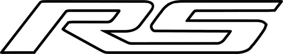 Chevy RS Outline Decal